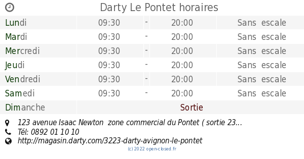 Darty Le Pontet Horaires 123 Avenue Isaac Newton Zone