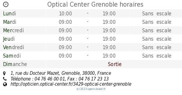 99ea757907535f Optical Center Grenoble horaires, 1, rue du Docteur Mazet