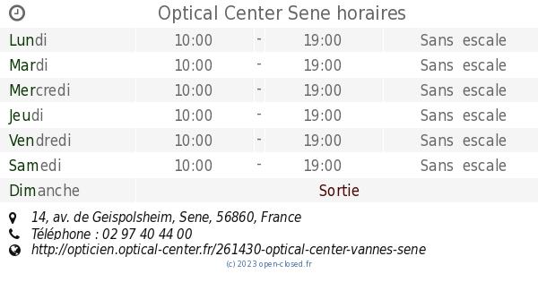 Optical Center Sene horaires, 14, av. de Geispolsheim 3fdf23b08dbb