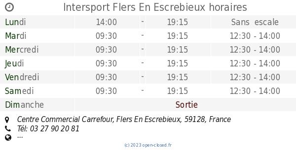 Intersport Flers en Escrebieux (59128) Centre Commercial