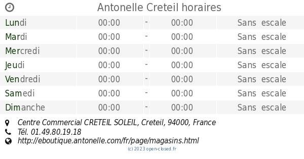 Antonelle Creteil horaires, Centre Commercial CRETEIL SOLEIL 7fcadac0ed7