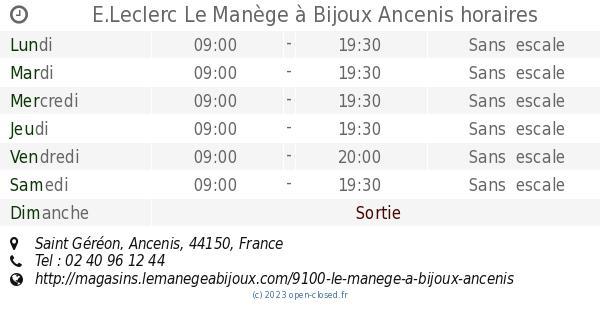 E leclerc le man ge bijoux ancenis horaires saint g r on - Horaire leclerc saint aunes ...