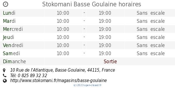 Stokomani Basse Goulaine Horaires 10 Rue De Latlantique